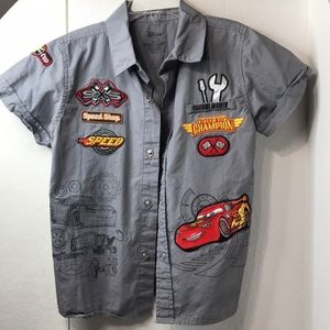 "Disney ""Cars"" button up"